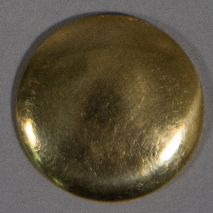 Button: Domed, Brass, 7/8""