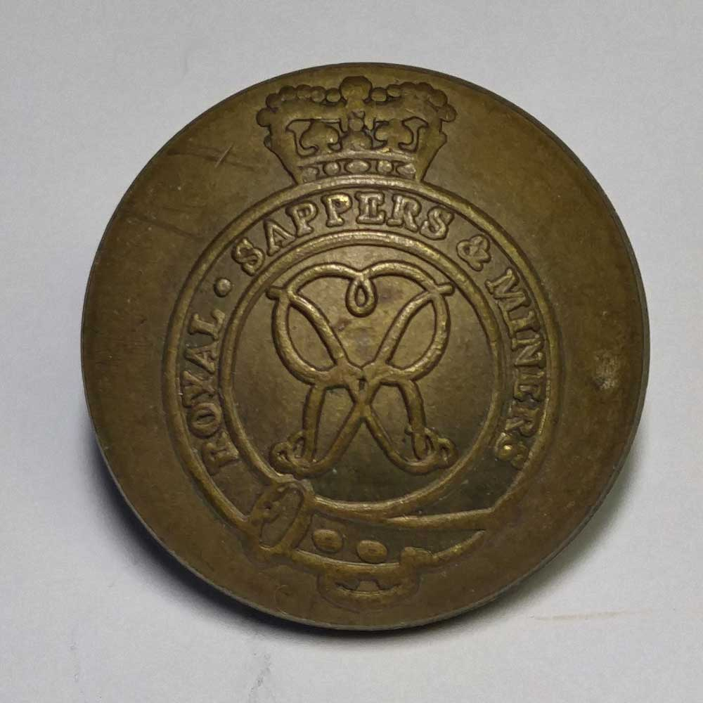 Royal Sappers & Miners, Brass, Domed, 3/4""