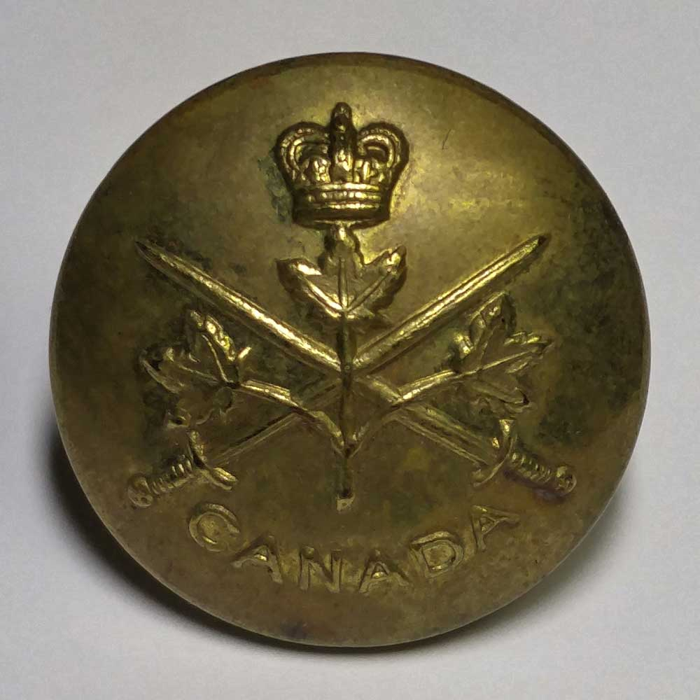 "Canadian Army, Brass, Made in England, 25mm (1"")"