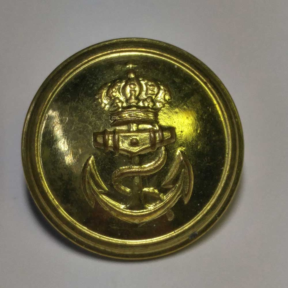 Naval, Anchor & Crown, Domes, 7/8""