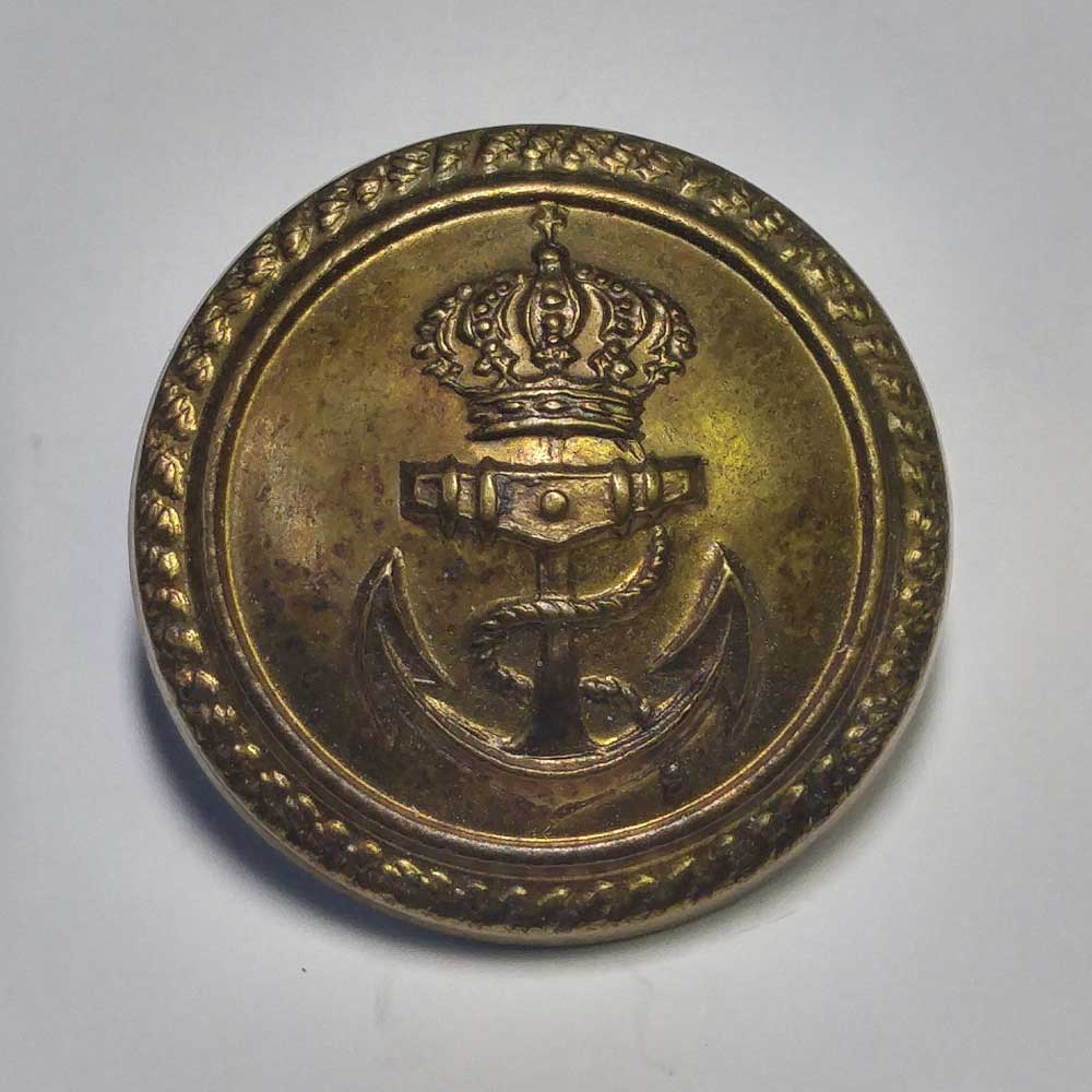 Naval, Anchor & Crown, Rim, Domed, 7/8""