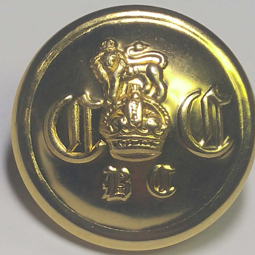 "Military, Crown/Lion, Gold, 25mm (1"")"