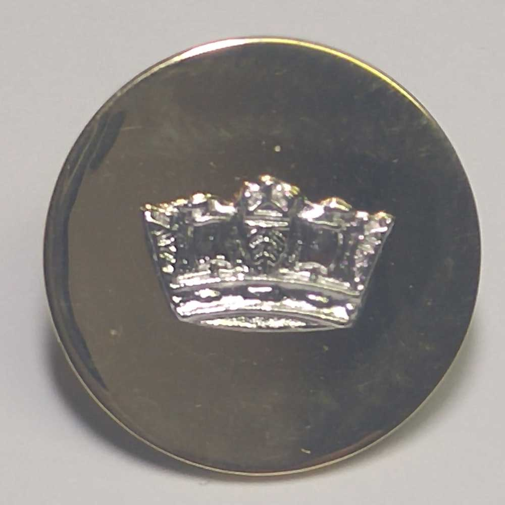 Silver Crown on Gold, 5/8""