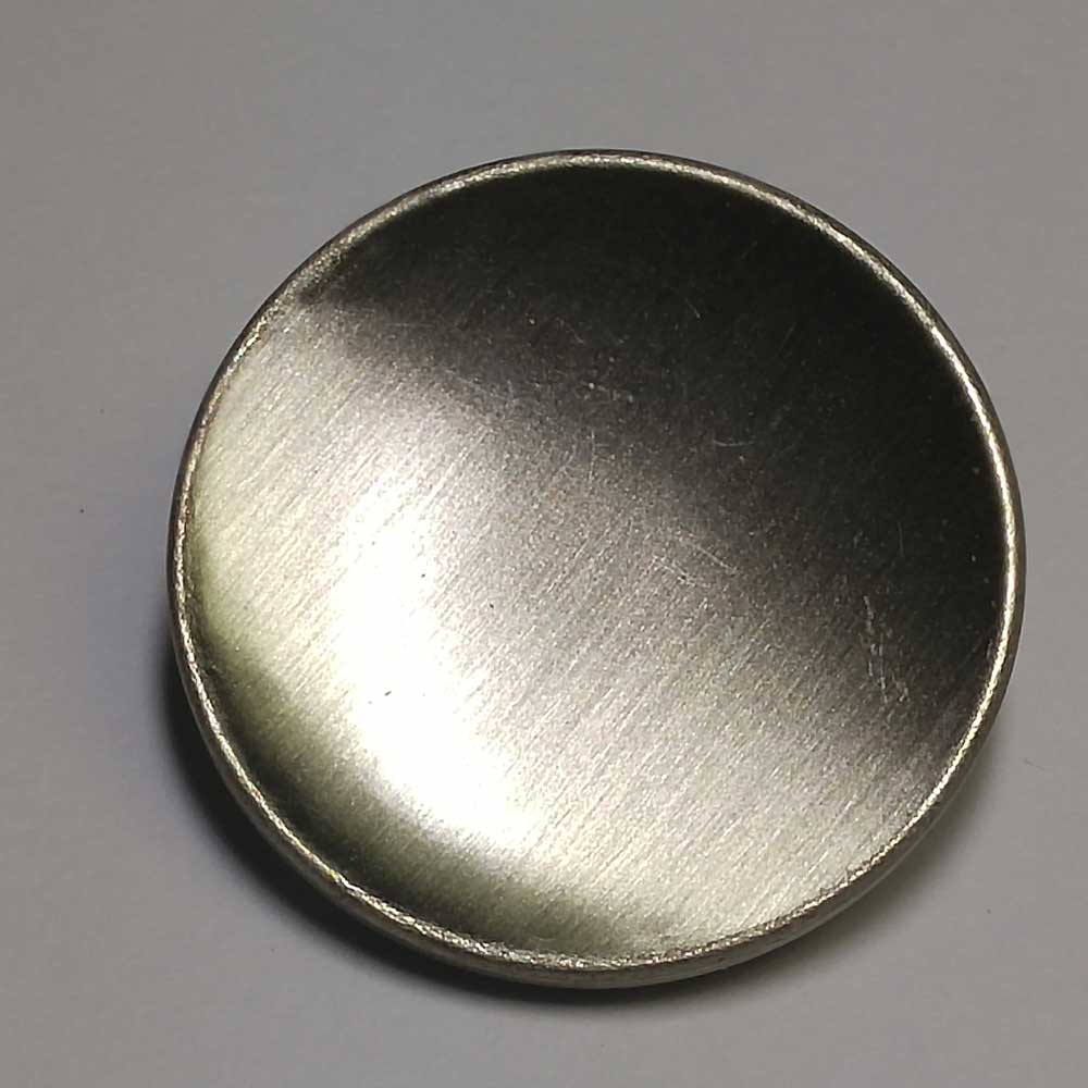 Plain, Dished, Military, Chrome, 7/8""
