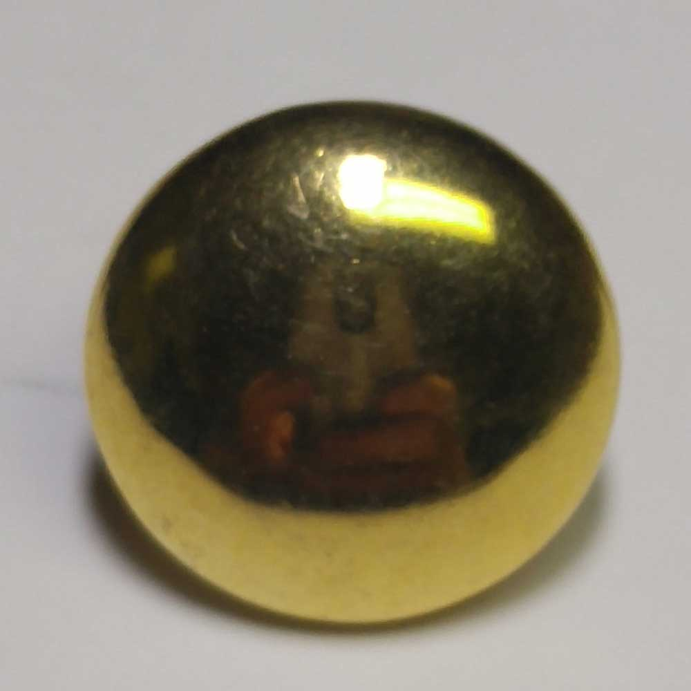 Plain, Domed, Military, Gold, 5/8""