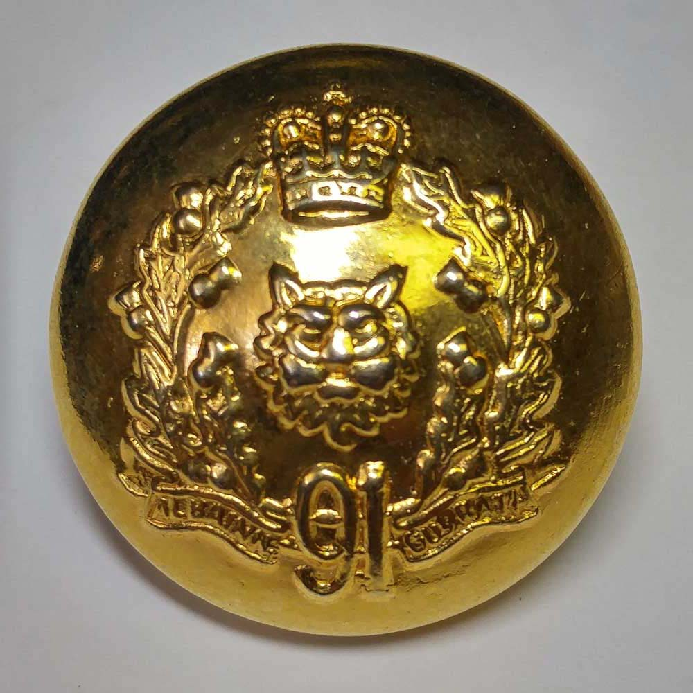 "Argyll & Sutherland Highlndr of Can, 91st, Brass, (25mm, 1"")"