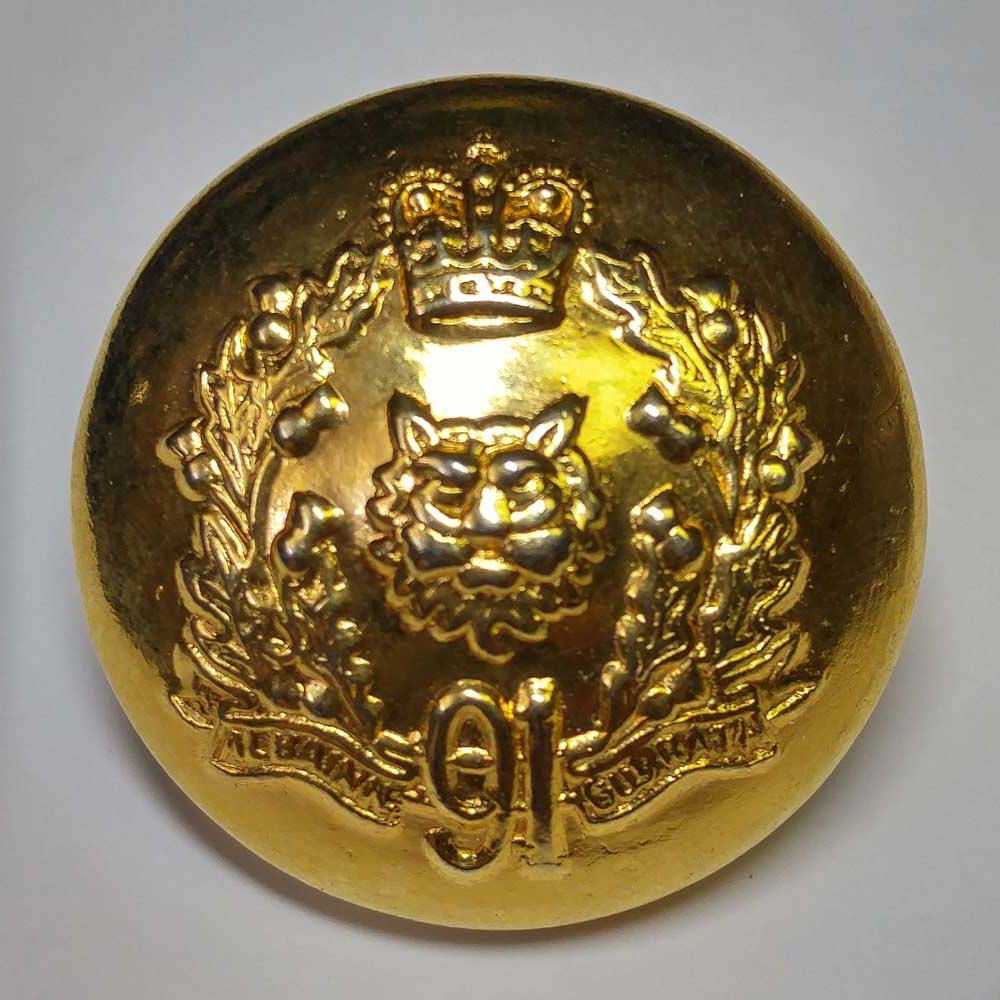 "Argyll & Sutherland Highlndr of Can, 91st, Brass, (23mm, 7/8"")"