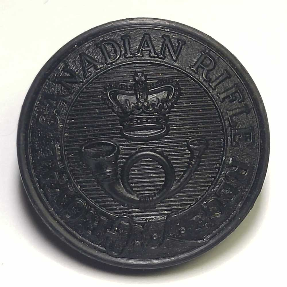 "Royal Canadian Rifles Regiment, Black, Faux Horn, 25mm (1"")"