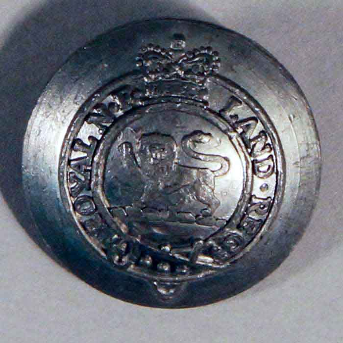 Button: Royal Newfoundland Regiment, Domed
