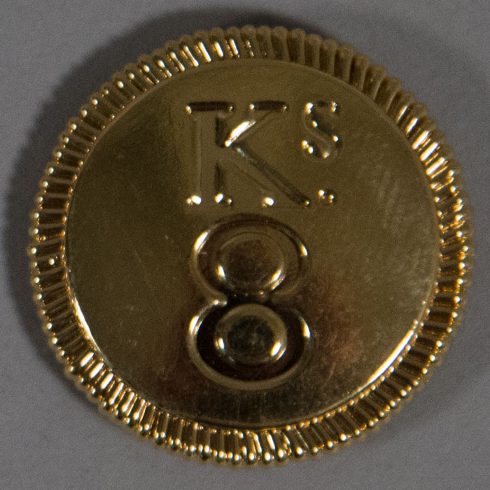 "Button: King's 8th Regiment, 22mm (7/8"")"