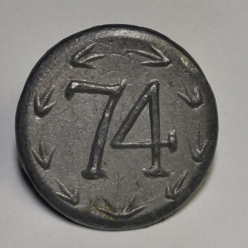 74th Regiment, Pewter, 7/8""