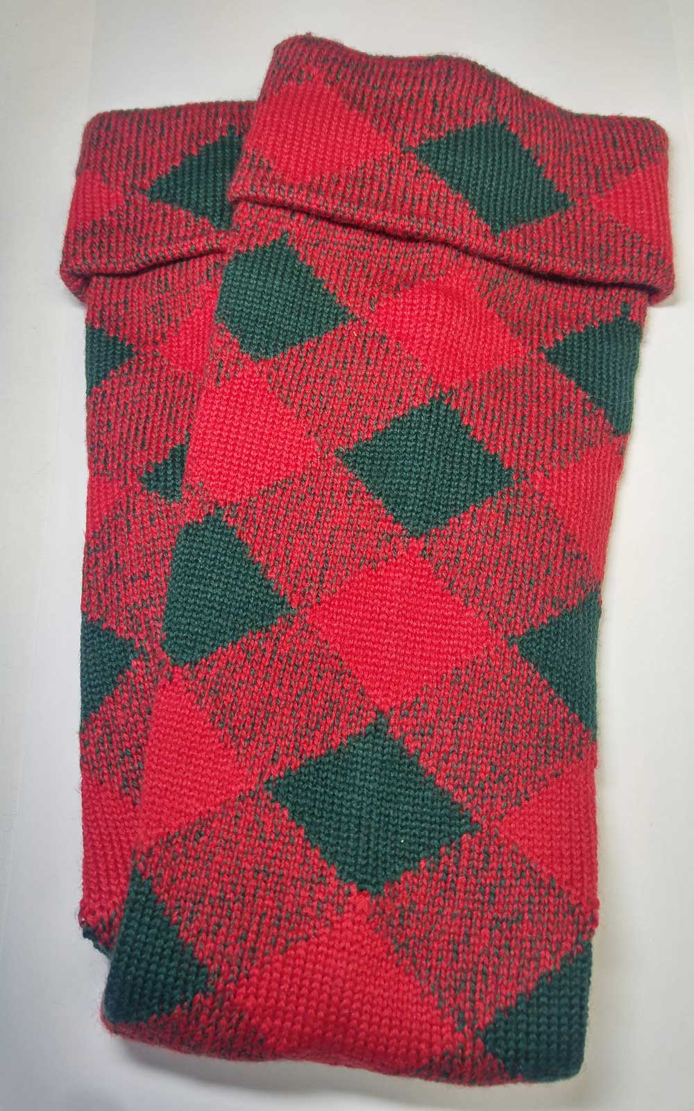 Highland Diced Hose, Red/Green