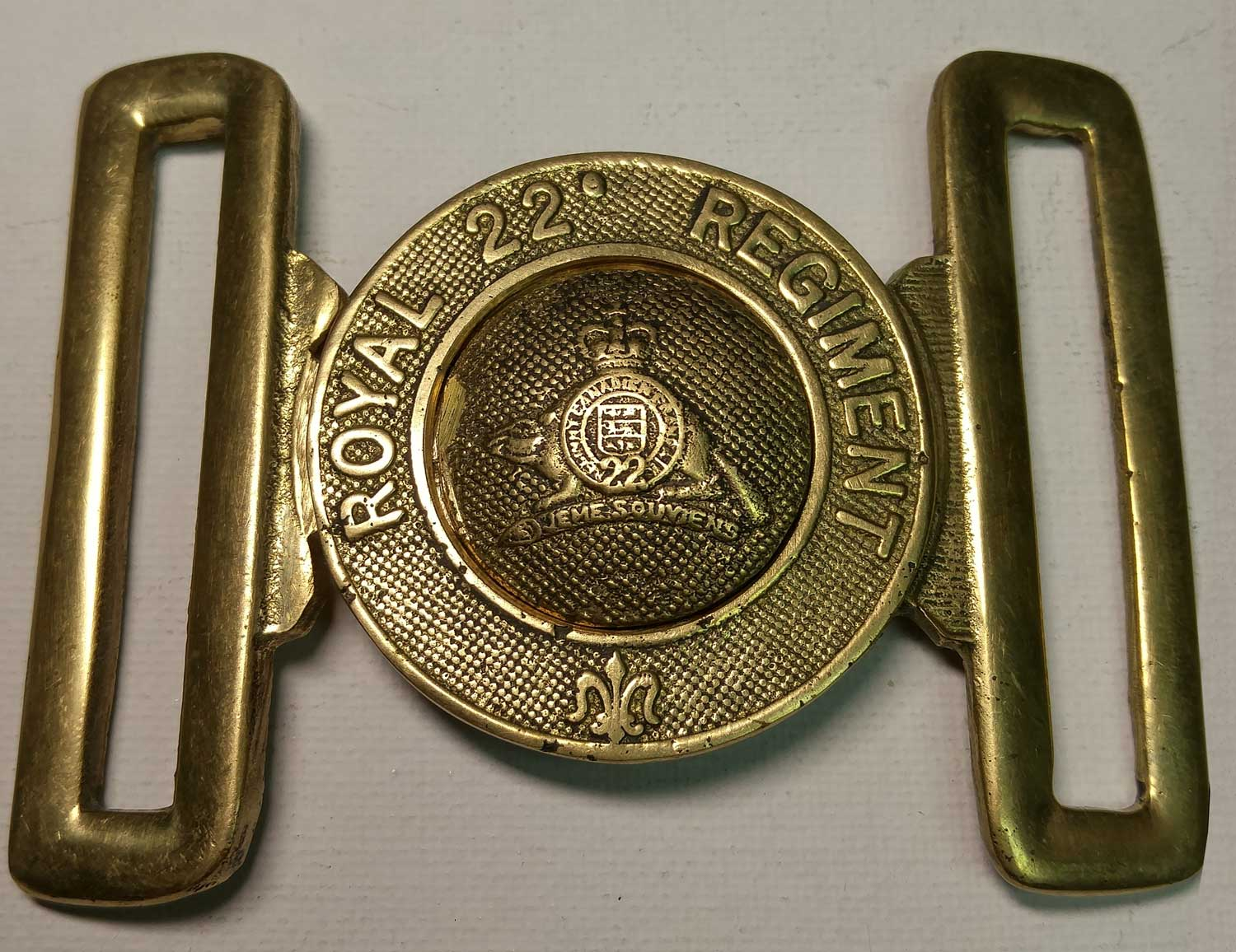 "22nd Royal Regiment Belt Buckle, Brass 57mm (2-1/4"")"