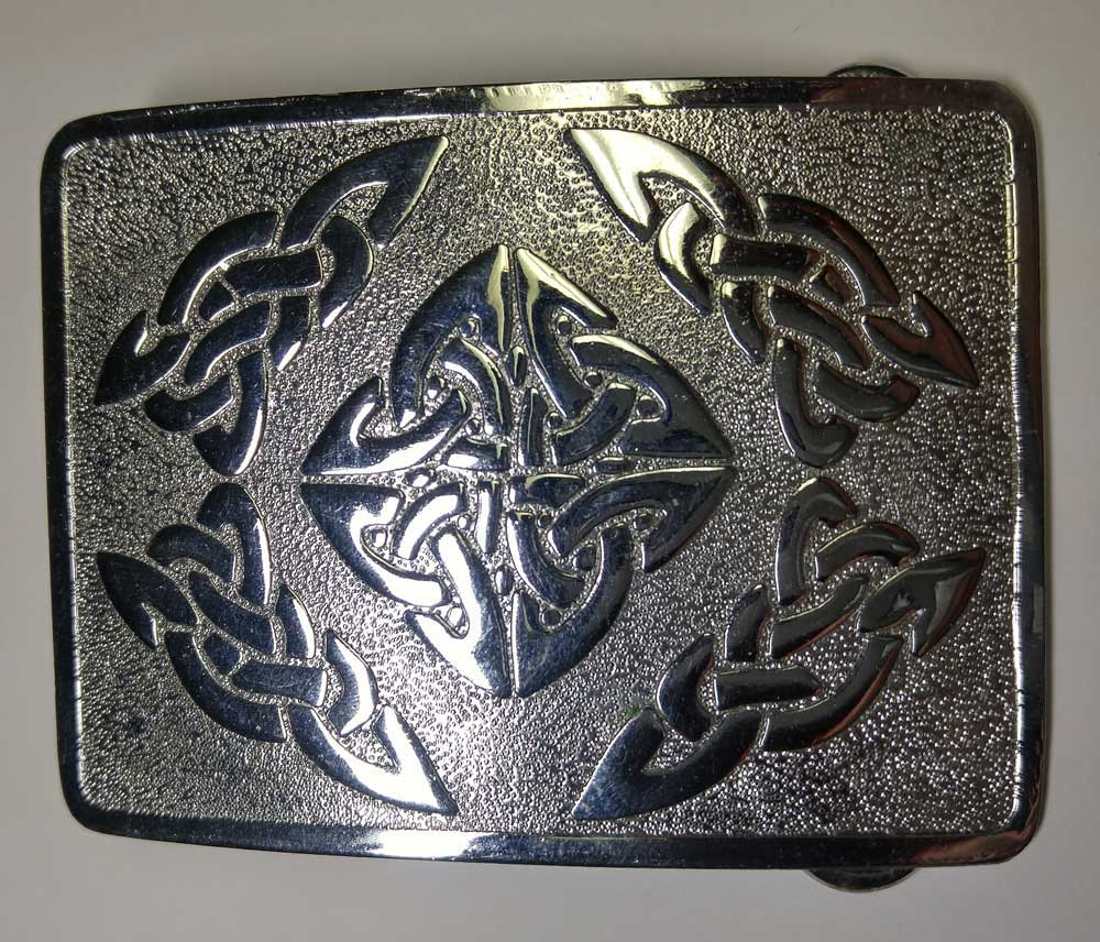 Highland Buckle: Celtic Swirl, 2-1/4""