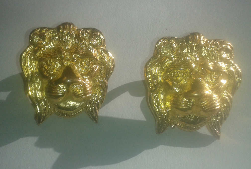 Single Lion's Head Sling Buckle, Pair