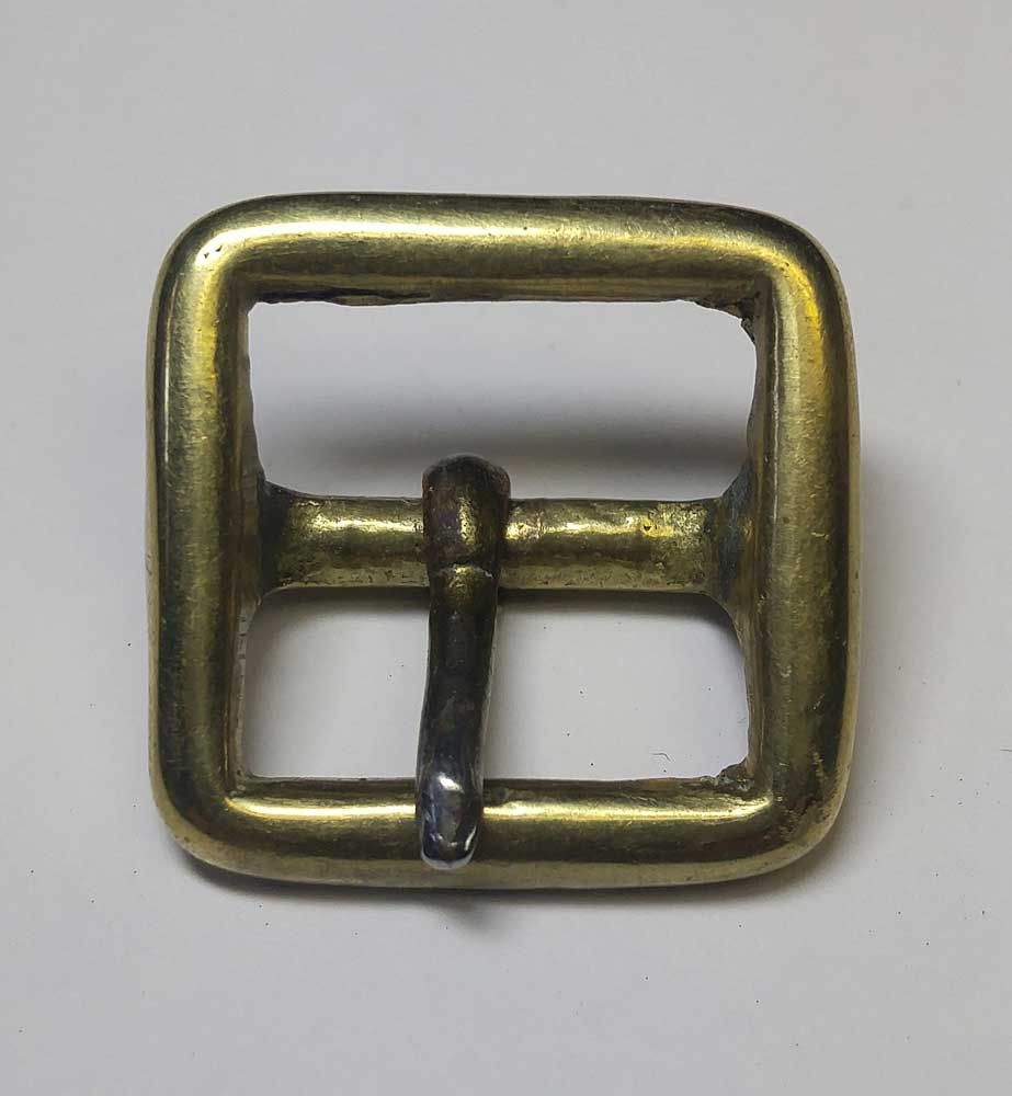Buckle: Sword Sling, Plain, Brass, 3/4""