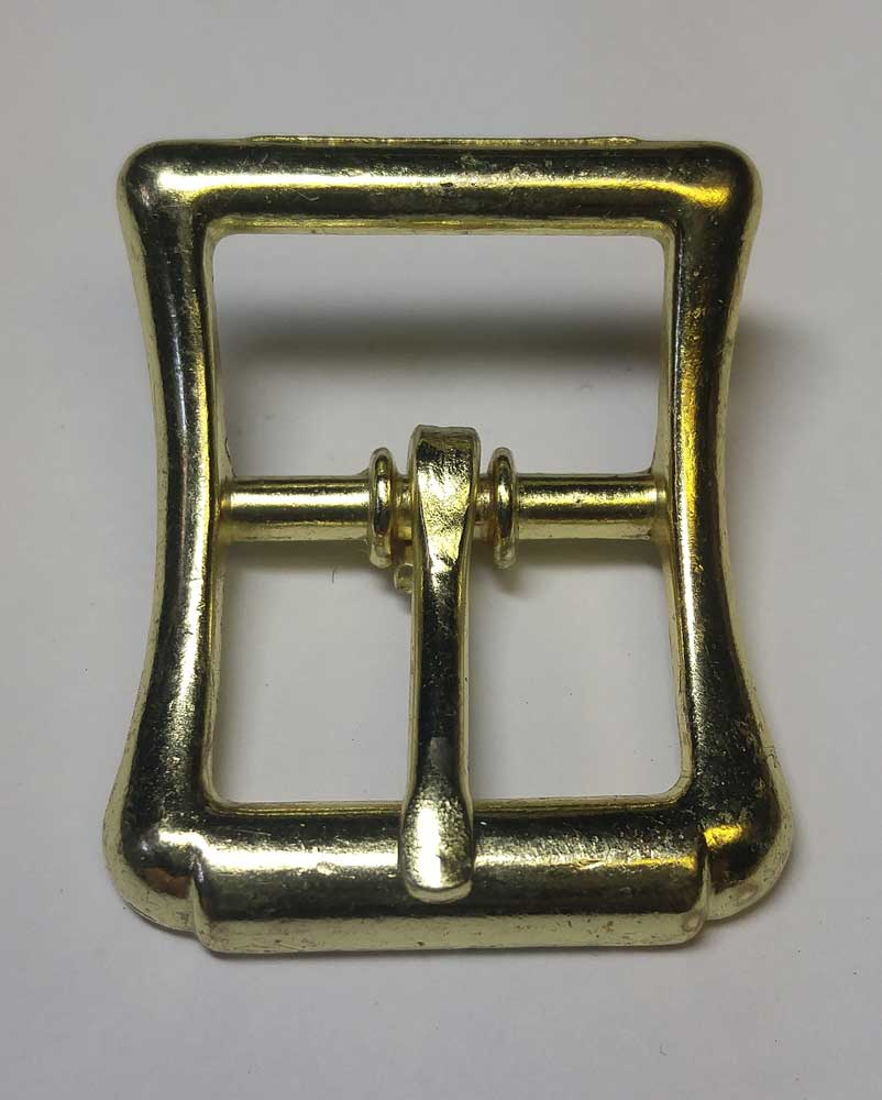 Buckle: Sword Sling, Curved, Gold, 3/4""