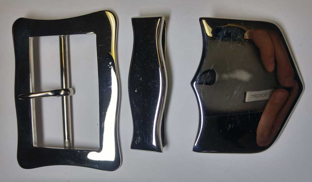 "Buckle Set: X-Belt, Dragoon, Nickel, 63mm (2-1/2"")"