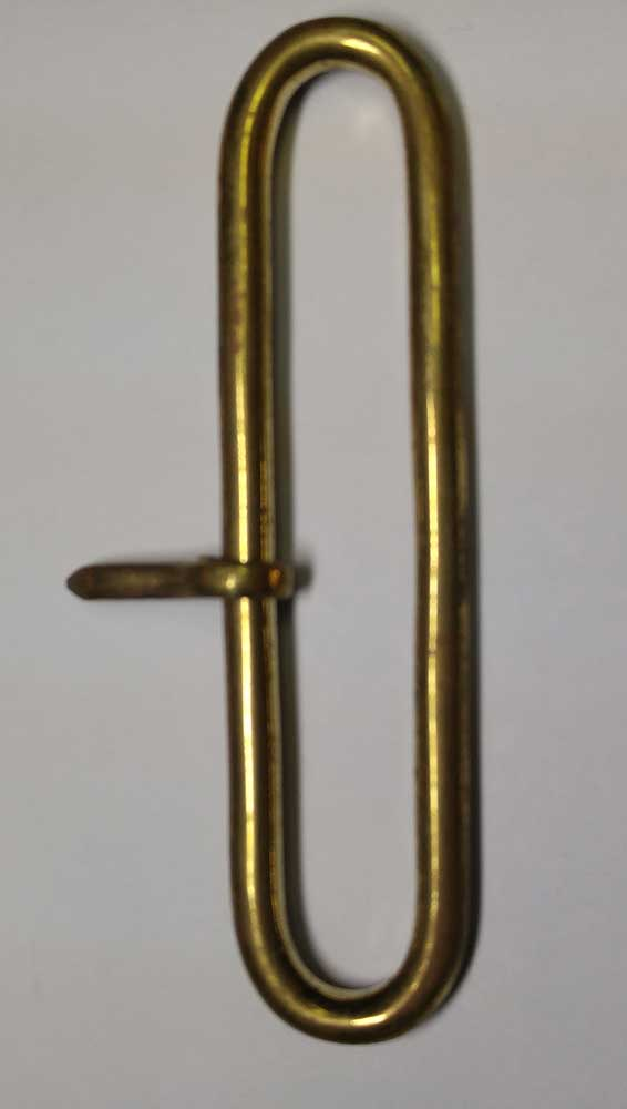 Belt Loop, Gold, 3""