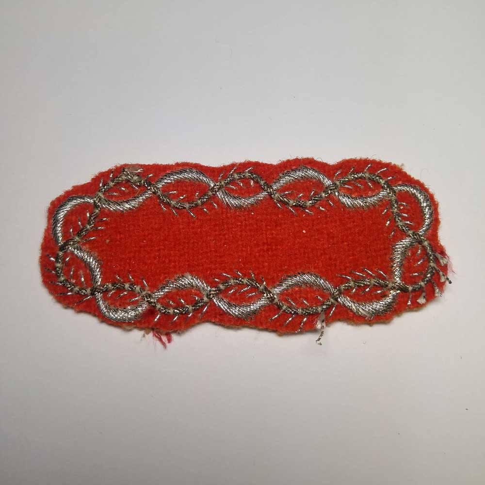 Turnback Tacks: Silver Wire on Red Backing