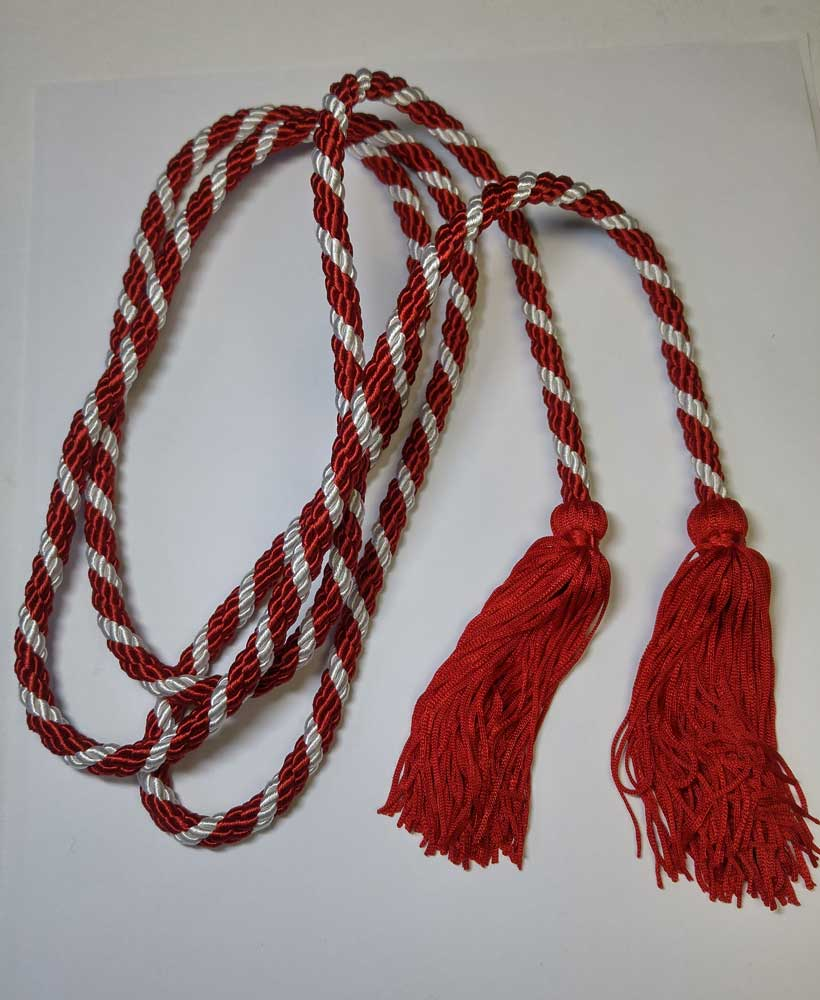 Cord, Red & White with Tassels