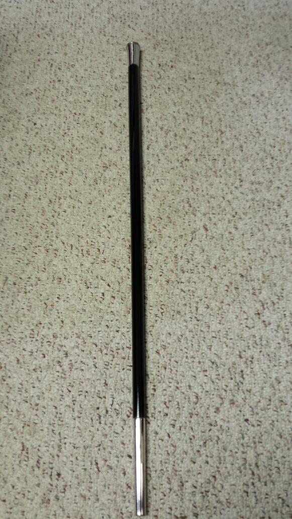 Drill Cane, Tapered, Black