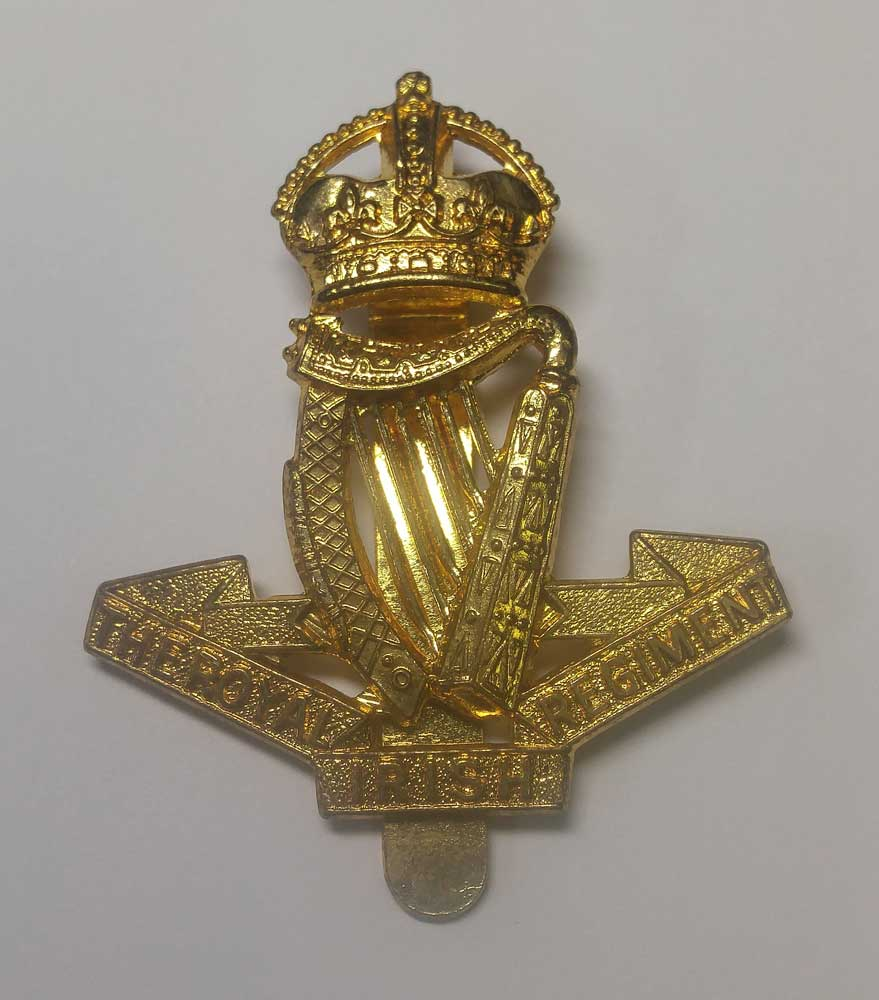 Badge: The Royal Irish Regiment, Cap, Gold