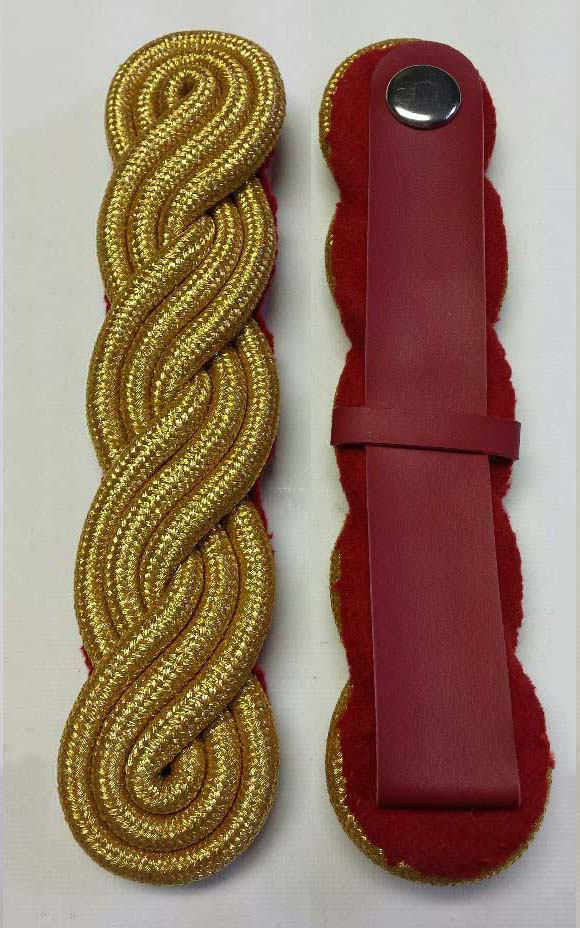 "Shoulder Twist, Gold, Oversized, 165mm (6-1/2"")"
