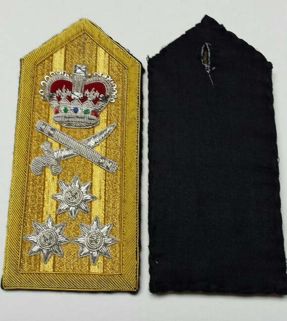 "Shoulder Board (hard), Navy Vice Admiral, 152mm (6"")"