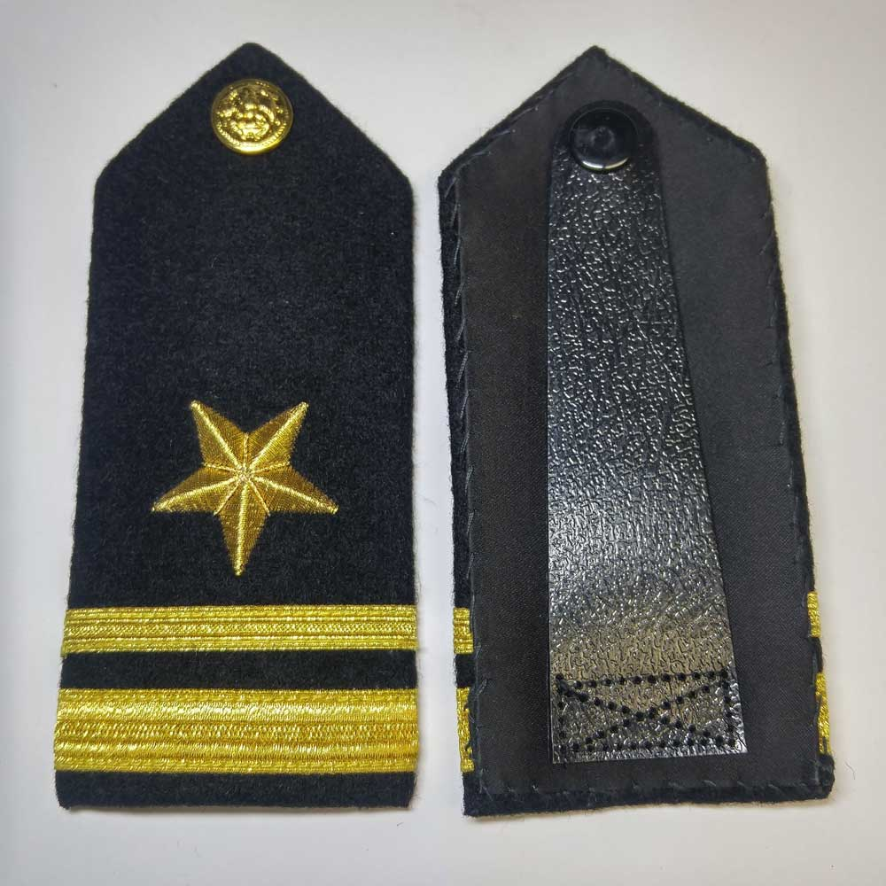 Shoulder Board, Navy, Line Officer (Hard), 5.5""