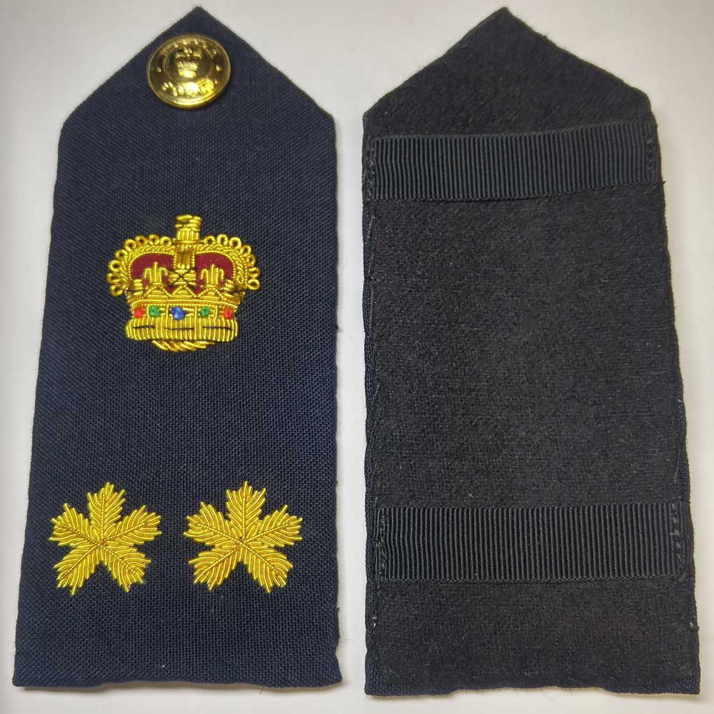 Shoulder Board, Police, Deputy Chief, (Hard), 5.5""