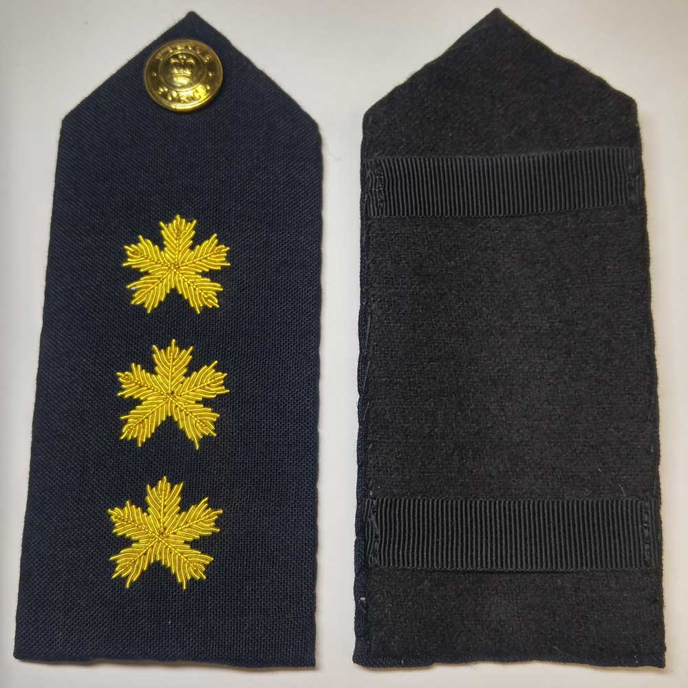 Shoulder Board, Police, Staff Inspector, (Hard), 5.5""