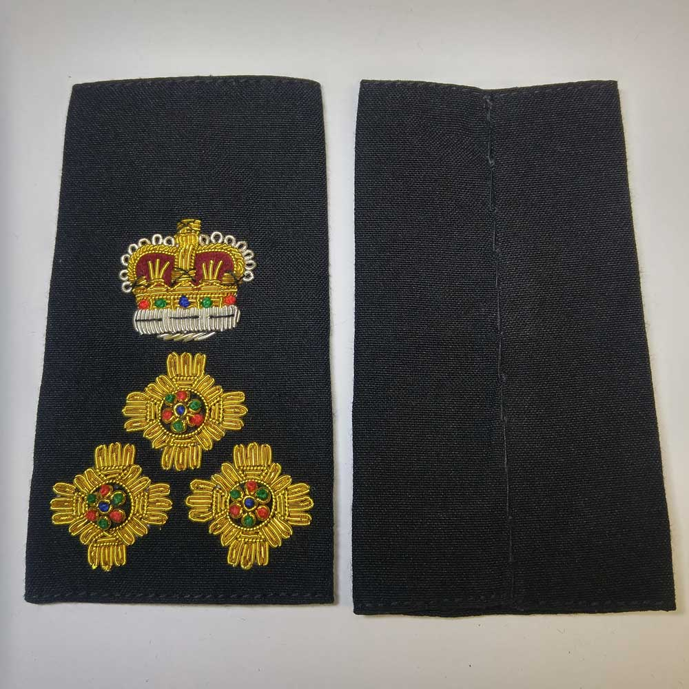 Shoulder Board, Police, Chief, (Soft), 4-1/4 ""