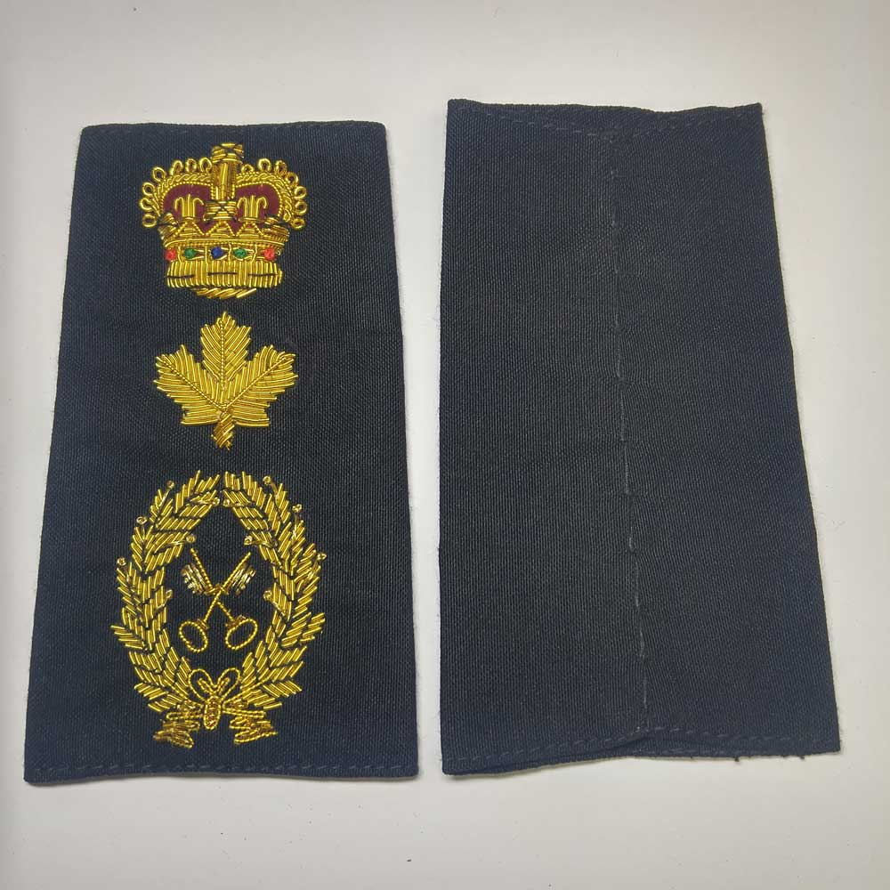 Shoulder Board,Supply Tech, Crown & Maple Leaf,(Soft), 4-1/4""