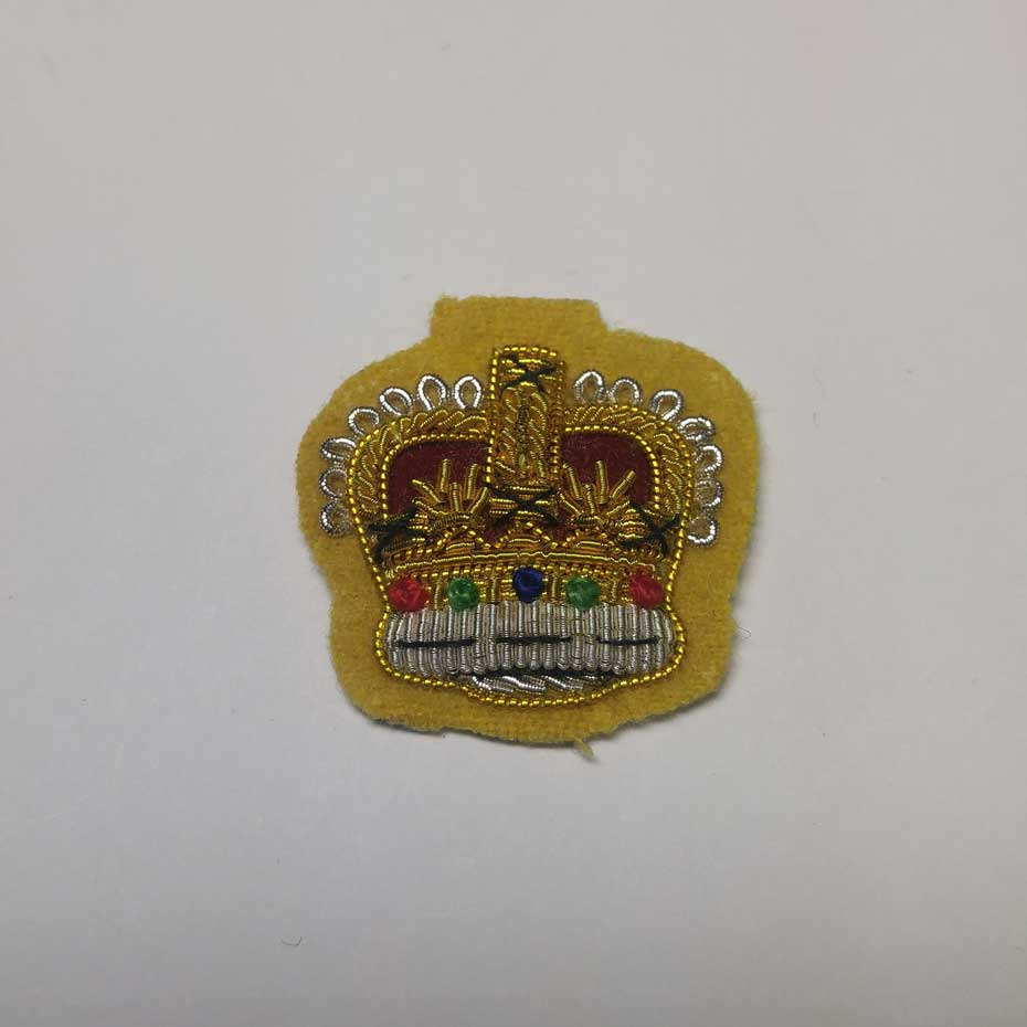 Crown Officers Mess Kit, Embroidery