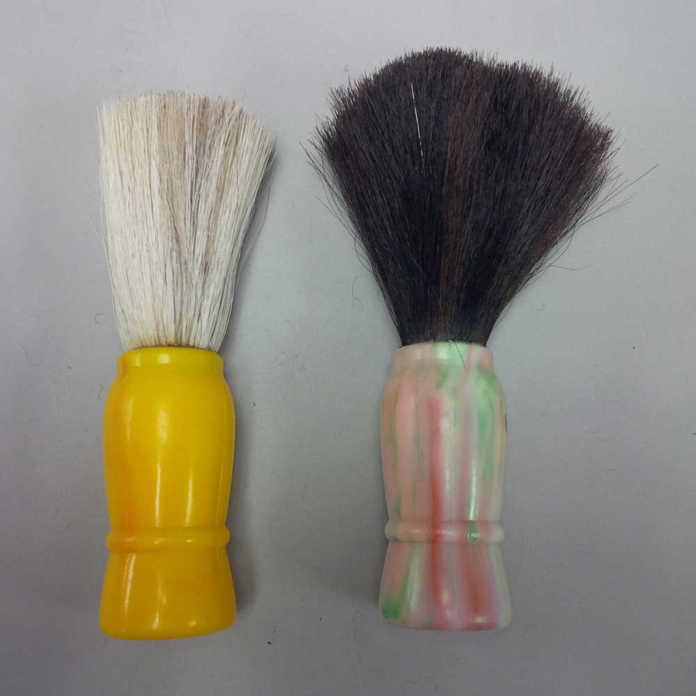 Shaving Brush, Horsehair, Faux Ivory Handle